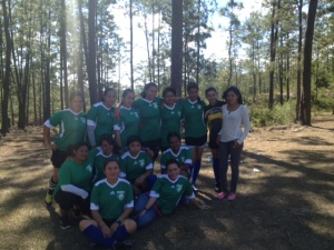 Soccer uniforms donated by McLean Youth Soccer.